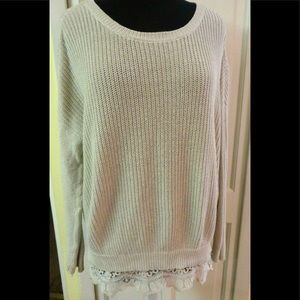 Anthro sweater by Pins and Needles lace hem small